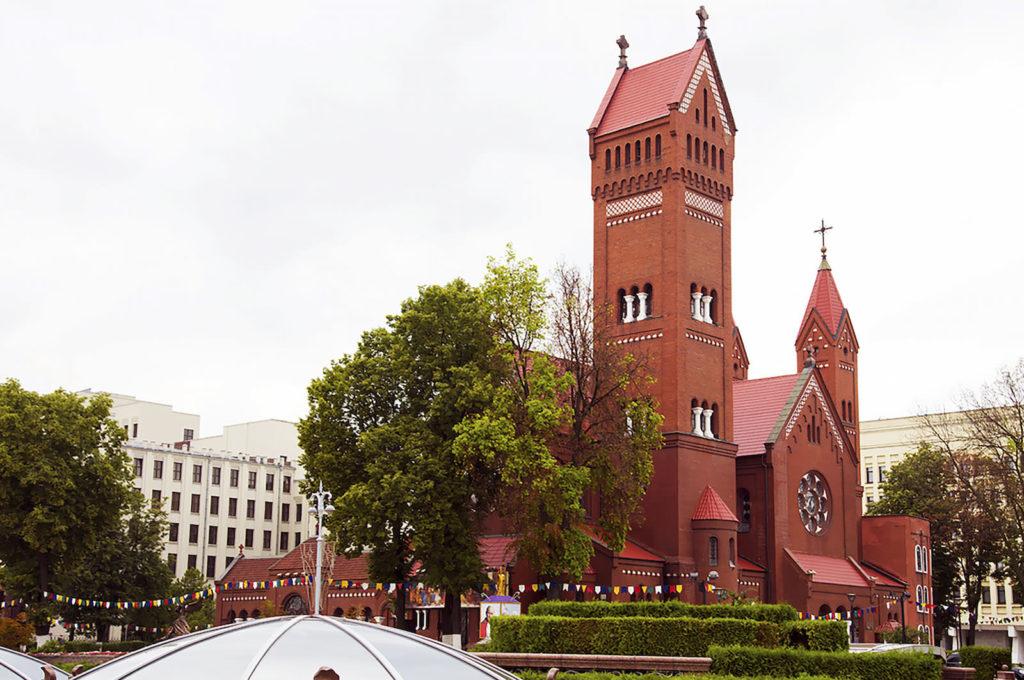 Rote Kirche in Minsk Belarus Weißrussland