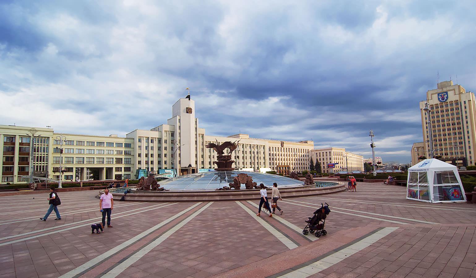 Unabhängigkeitsplatz Minsk Belarus Weißrussland