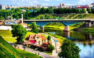 Brücke über die Memel, Grodno Belarus