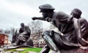 Denkmal für Jakub Kolas Minsk Belarus Weißrussland