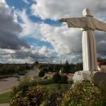 Jesusstatue in Iwje (Iwye) Belarus Weissrussland