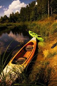 Kanus auf der Beresina Belarus Weissrussland