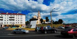 Kreisverkehr mit Panzer, Grodno Belarus