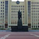 Lenin Denkmal vor dem Regierungsgebäude Minsk Belarus Weißrussland