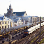 Zug Bahnhof Brest Belarus Weissrussland