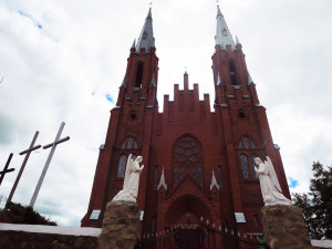 katholische Backsteinkirche Braslauer Seengebiet Belarus Weissrussland