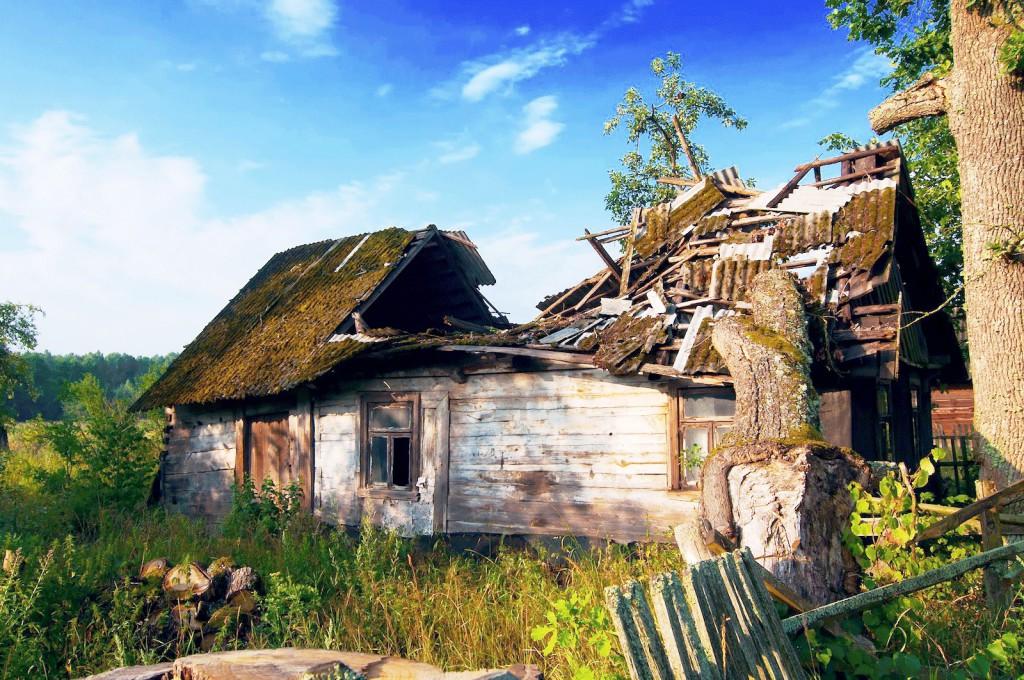 verlassenes Dorf Belarus Weißrussland
