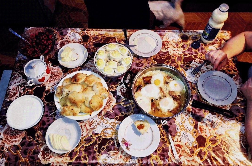 Belarussisches Frühstück Weißrussland