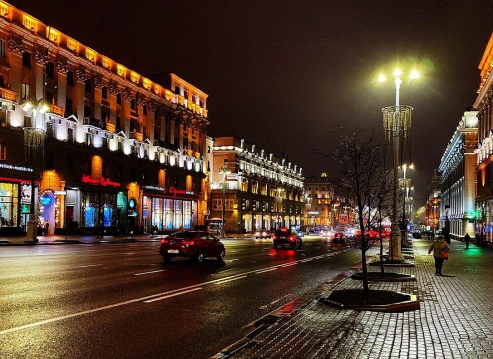 Minsk in der Nacht   Foto: Svetlana Abehtikova