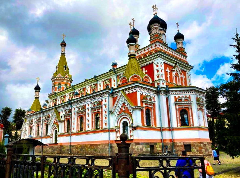 Pokrowskij-Kathedrale in Grodno Belarus Weißrussland