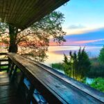 Blick auf den See Brelarus Weißrussland